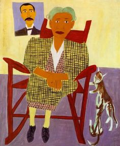 It's About Time: American Artist William H Johnson 1901-1970 - From the Deep South to New York to Europe & Back.  William H. Johnson (American artist, 1901-1970) Mom and Dad 1944