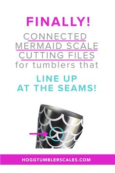 Say goodbye to endless frustration with this Connected Mermaid Scale cutting file that perfectly lines up at the seams. Your custom tumbler business will thank you and your customers will be thrilled.