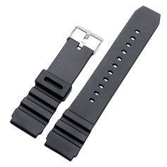 18/20/22mm High Quality Cool Rubber Silicone Black Wristwatch Watch Band Strap Replacement Correa De Reloj