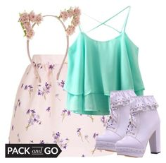 """""""Pack And Go: Tokio"""" by deedee-pekarik ❤ liked on Polyvore featuring RED Valentino, Accessorize, pastel, tokyo and Packandgo"""