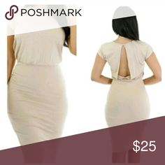 Beauty Open Dress Set your apart with this fabulous open back dress. Item is made of polyester and spandex .  Item does run big depending on how you want the item to fit. Exquisite Styles  Dresses