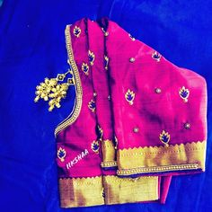 Beads work neck and buti design for blouse using normal needle same like aari/maggam work/hand work Best Blouse Designs, Simple Blouse Designs, Bridal Blouse Designs, Blouse Neck Designs, Sugar Beads, Aari Work Blouse, Maggam Work Designs, Kutch Work, Hand Embroidery