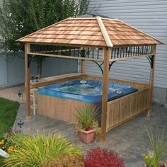 hot tub roof with skylight