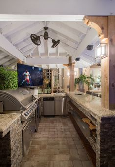 Custom outdoor kitchen designed and built by Nelson Construction and Renovations.