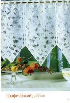 "Photo from album ""салфетки on Yandex. Crochet Curtain Pattern, Crochet Curtains, Curtain Patterns, Annie's Crochet, Filet Crochet, Crochet Doilies, Window Coverings, Creative, Yandex Disk"
