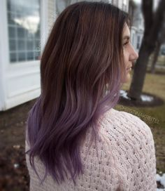 Brown+To+Ash+Purple+Ombre