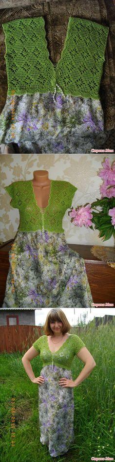 Платье - сарафан 'Летняя свежесть' (вязание+ткань) - Вязание - Страна Мам
