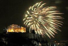 Athens celebrates 2016! #athens #acropolis #happynewyear #holidays #2016 #learnrussian #greekrussian #greece