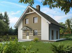 дом с двухскатной крышей фото