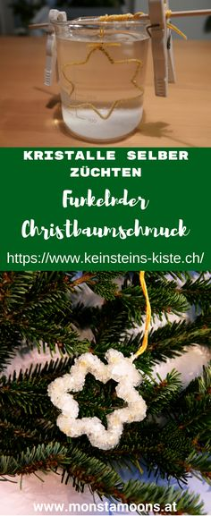 Funkelnder Christbaumschmuck – Kristalle selber züchten This is how you grow crystals and conjure up sparkling Christmas decorations Christmas Tree Box, Easy Christmas Crafts, Simple Christmas, Christmas Tree Decorations, Christmas Ornaments, Diy For Teens, Crafts For Teens, Diy For Kids, Diy And Crafts