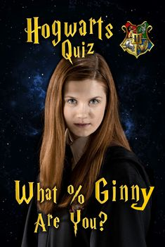 Hogwarts quiz: ever wonder what % ginny weasley you are? answer these fun personality questions and we'll determine how similar you are to the famous Harry Potter House Quiz, Images Harry Potter, Harry Potter Characters, Harry Potter Hogwarts, Harry Potter Character Quiz, Ginny Weasly, Ron Weasley, Bonnie Wright, Hp Quiz