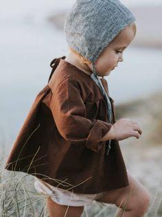 Handmade Chocolate Linen Field Blouse | MiyaAndMa on Etsy
