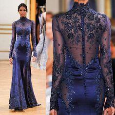 Women's Formal Dress w/ Long Sleeve & Appliques