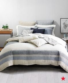 hotel collection linen stripe bedding collection created for macyu0027s