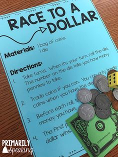 Activities to Practice Counting Coins Counting Money Games, Money Math Games, Money Games For Kids, Counting Coins, Math For Kids, Fun Math, Math Activities, Maths Resources, Money Worksheets