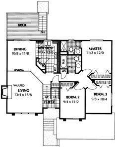 Elegant Barton Point Split Level Home. House Plans ... Home Design Ideas