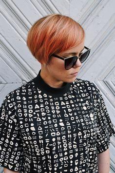 Perfect short, peachy blonde hair for the summer - by Susanna Poméll #healthyhairfinland / www.healthyhair.fi