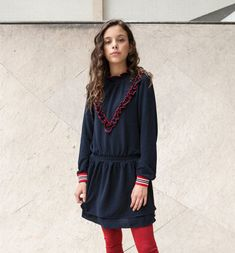 DRESS TIME! #looxs #dress #blauw #rood #girls #meisjes #kindermode #looks Kid Styles, Dresses With Sleeves, Classic, Long Sleeve, Kids, Outfits, Fashion, De Stijl, Derby