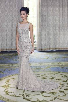 2018 Prom Dresses Round Neck Sequins Mermaid Floor Length Bridesmaid Dresses/Evening Gowns_Bridesmaids Dresses_Wedding Party Dresses_Buy High Quality Dresses from Dress Factory Evening Dress Long, Mermaid Evening Dresses, Evening Gowns, Evening Party, Prom Gowns Elegant, Formal Dresses, Formal Wear, Long Dresses, Elegant Wedding