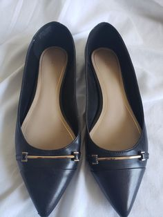 c00d7a26af82 Women s Aldo Flats Size 8 Black Gold Leather Pointed Toe Shoe  fashion   clothing  shoes  accessories  womensshoes  flats (ebay link)