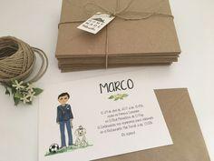 Marco y su perrito nos invitan a su comunión #invitaciones #diseñospersonalizados