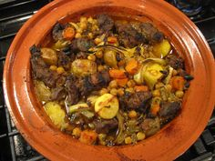 Lamb Tagine with Chickpeas and Raisins National Dish, Pot Roast, Raisin, Lamb, Tasty, Dishes, Cooking, Ethnic Recipes, Chickpeas