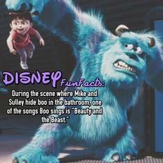 Monsters Inc Disney Fact Disney Fun Facts, Disney Memes, Disney Quotes, Cute Disney, Disneyland Secrets, Disney Secrets, World Movies, Kid Movies, Disney And Dreamworks