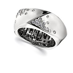Ray of Light Collection; Sterling Silver set Sparkling CZ Ring
