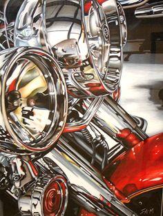 Harley Davidson Art by Jessie Miller