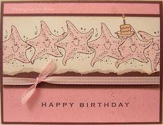 Starfish Birthday - Stamps: Fishy Friends, Crab & Company, It's Your Birthday