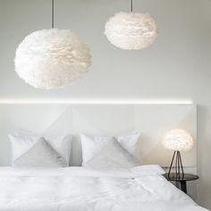 Vita Copenhagen Eos Extra Large Ceiling Pendant White Light Shade / Feather Lampshade