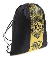 6505f3439e18e PUMA BVB Fanwear Gym Sack Bag Black Yellow Soccer Fitness Gym Outdoor  075303-01