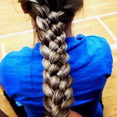 5 way braid just learned how to do it, in love.