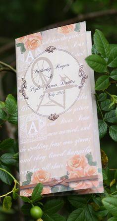 Sleeping Beauty wedding invitation by Graphic Embers.