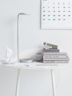 #love Pixo LED Table Lamp in Silver. Available in eight playful colors, Pixo is infinitely adjustable and has a built-in USB port for charging your phone.
