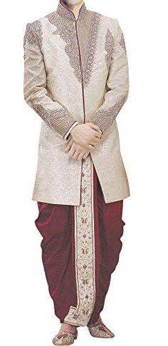 d0fdfacd34d3 INMONARCH Mens Fabulous Beige Designer Short Sherwani Fabulous designer  short sherwani made in beige brocade fabric.