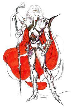 Final Fantasy IV - Cecil Concept Art - Yoshitaka Amano