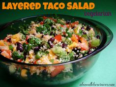 Vegetarian Layered Taco Salad