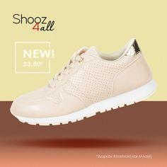 Γυναικεία sneakers σε ανοιχτό μπεζ  #shooz4all #sneakers #gynaikeia