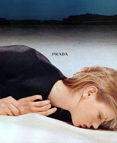 Angela Lindvall for Prada Fall 1998 campaign