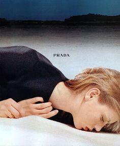 Angela Lindvall for Prada Fall 1998 campaign