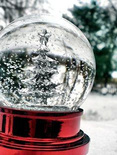 ¡Esferas de nieve! Quiero muchas!!!!!