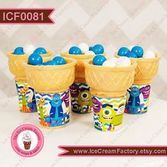 Monsters school inc birthday party wraps labels by IceCreamFactory, $8.99