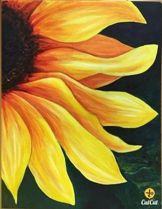 Flower Painting Discover Items similar to Sunflower art Sunflower artworkFlower oil painting Sunflower Picture sunflower decorFern palm sunflower paintingEasy sunflower wall art on Etsy Sunflower Drawing, Sunflower Art, Sunflower Paintings, Paintings Of Sunflowers, How To Paint Sunflowers, Paint Flowers, Sunflower Tattoos, Simple Oil Painting, Oil Painting Flowers