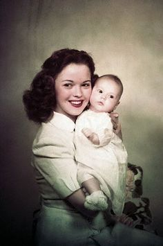 Shirley Temple and her baby girl.  There's nothing like old-fashioned mother and child photographs!
