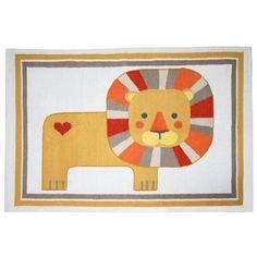 """Lion Rug"" by JONATHAN ADLER @ Project Decor #heart #kids #roar"