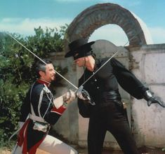Zorro and Capitan Monastario crossed swords
