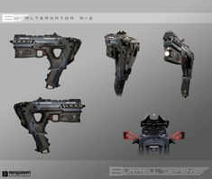 View an image titled 'Alternator SMG Art' in our Apex Legends art gallery featuring official character designs, concept art, and promo pictures. Sci Fi Weapons, Weapon Concept Art, Fantasy Weapons, Ghost Assassin, Leg Art, Future Weapons, Spaceship Design, Military Guns, Art Gallery
