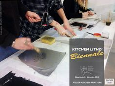 Join Us! Kitchen litho Biennial. Free and gratis if you give one examplar. Organized bu the inventor of Kithen Litho technique : Emilie Aizier alias Emilion of Atelier Kitchen Print. http://www.atelier-kitchen-print.org/gallery/8484/