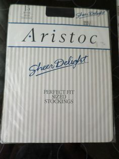 Vintage 15 denier Aristoc  Navy stockings size 2 retro nylons original package